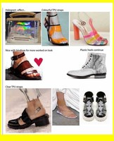 fishion translucent tpu film for lady sandal and bags
