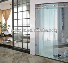 10mm Clear Tempered Glass Sliding Commercial Door