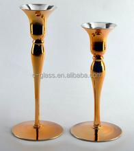 brass antique crystal candle holder