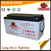 Most powerful long life renewable energy 200ah 12v AGM gel deep cycle battery