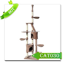 Manufacture Natural Cat Scratching Tree house & Sisal Cat Tree