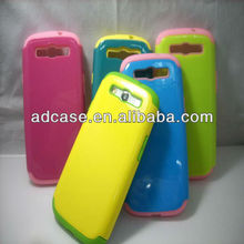Silicone and PC combo waterproof cell phone case for samsung galaxy s3 i9300