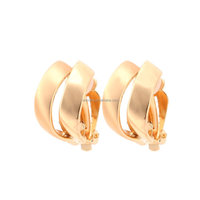 Women Girl Cute Simple Twisted Hoop Pictures of Gold Earrings