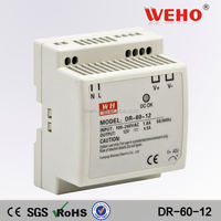 Factory direct sales 60w single output DIN Rail power 120v to 12v dc converter