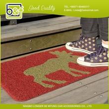 Custom size stripe modern floor pvc door mat, outdoor mat