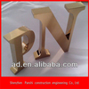 Electro-plating mirror polished stainless steel company logo sign