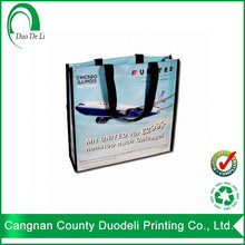 PP cheap tote shopping recylce nonwoven lamination bag for carry with hs code