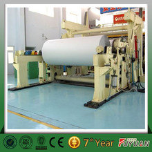 henan zhengzhou a4 rice straw ppaer making machine, wheat straw pulp paper making machine with ISO CE certification
