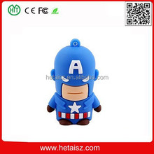 PVC cartoon character captain america usb flash drive 1tb, captain america usb flash drive no minimum