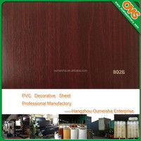 cabinet skin sheet decorative wood grain laminating pvc film
