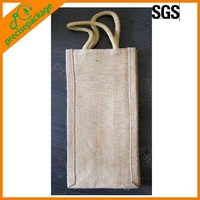jute bag for wine bottle