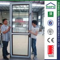 Good looking UPVC single open two panel door window inserts