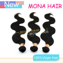 100% unprocessed No shedding remy hair weaving