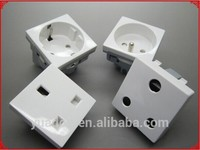 Flush mounted European universal electrical wall socket outlet