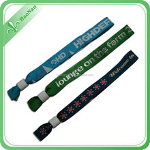 2015 Promotional delicate fabric textile woven wristbands bracelets for event