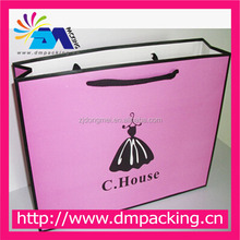 recycled custom paper shopping bag brand name