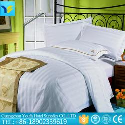 High quality design direct factory made hotel design 100% cotton bedding set stripe fabric