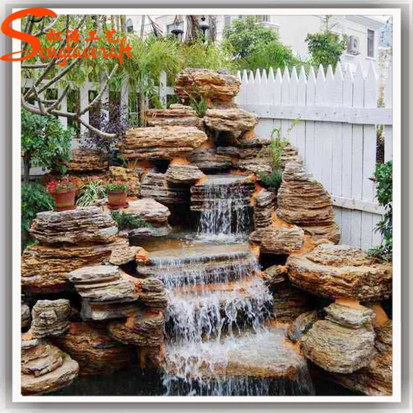 Customized outdoor decorative ornamental fiberglass water for Ornamental garden features