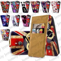Fashion Patterns Printed Magnetic Top Flip PU Leather Case Card Holder Wallet Phone Cover Skin For Nokia Lumia 1520