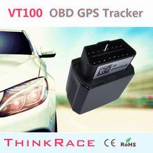 Smallest gps vehicle tracker VT100 Built-In U-Blox high sensitive GPS chip OBD/OBD2 of Thinkrace