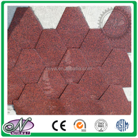 Cheap building materials coloured glaze china 3-tab asphalt shingles price made in China