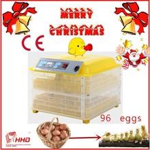 Más de % 95 hatching aprobado por la ce pequeñaincubadora automática 12v+220v