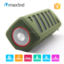 IPX5 Rugged army green waterproof bluetooth speaker with 5200mAh power bank