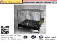 stackable and collapsible metal wire rabbit hutches cages with plastic or metal Tray and feeder and waterers