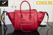Famous Design Women Classic Luxury PU Leather Handbag Bat Wings Smiling Face Bags Ladies Smiley Totes bag