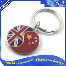 metal enamel cheap custom keychains