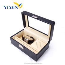LUXURY PAPER WHATCH BOX HIGH QUALITY WOOD WATCH BOX DISPLAY CASE NEW