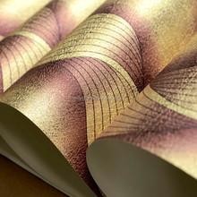 Levinger metallic silver gold stripe wallpaper