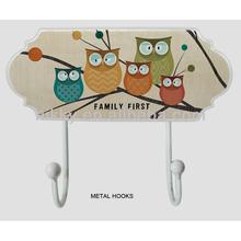 Shabby chic coat hooks&Owl metal vintage coat hooks&Rustic coat hooks