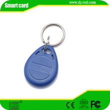 Custom shape/size/logo waterdrop RFID key tag for access control system