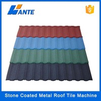 Low price hot sale waterproof galvanized color stone chip coated metal roof tile