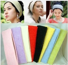 fashion colorful wide fabric sport hairbands Hair Accessories for women