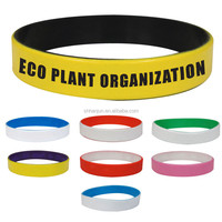 Spray painted wristband Medical Alert Color coated silicone bracelet
