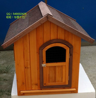 Home Garden Pet Products Cages Carriers >Wooden Outdoor Pine Fir Eco-Friendly pet dog cat houses home building room Kennel #CH02