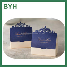 Classic wedding purple candy gift box wedding favors candy boxes laser cut wedding favor paper boxes