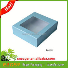 Hot sale high quality paper box with clear plastic cover