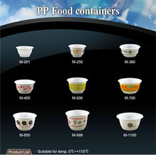 T-PP4-T 6oz 8oz 12oz 13oz microwave thick high quality small disposable hot food container PP plastic bowl with lid