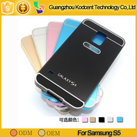 Fancy cell phone aluminum metal bumper smart cover case for samsung galaxy s5 i9600
