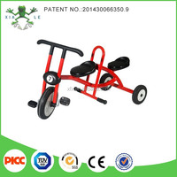 2015 Popular play items children Tricycle with two back seats / Three Wheel pedal car