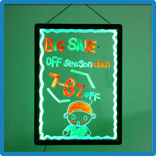 New Arrival 90 Flashing Modes Neon Drawing Board RGB5050 LED Writable Signs Aluminum Alloy Frame Indoor Advertising Display