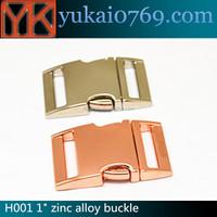 custom logo side release buckles,metal buckles for dog collars,pet collar breakaway buckle