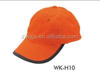 hi viz reflective hat cheap baseball cap with led light
