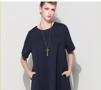 new short-sleeved thick winter large size women's fashion wild wind dress wholesale manufacturers wholesale Ladies Blouses Tops