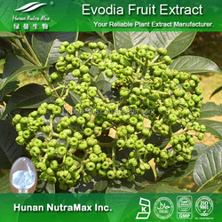 Hot sale Plant extract Evodiamine powder/Fructus Evodiae extract/Evodia rutaecarpa fruit extract