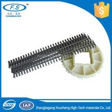 Machine plastic chain and sprocket