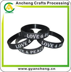 Hot 1 inch silicone rubber bands for advertising gifts
